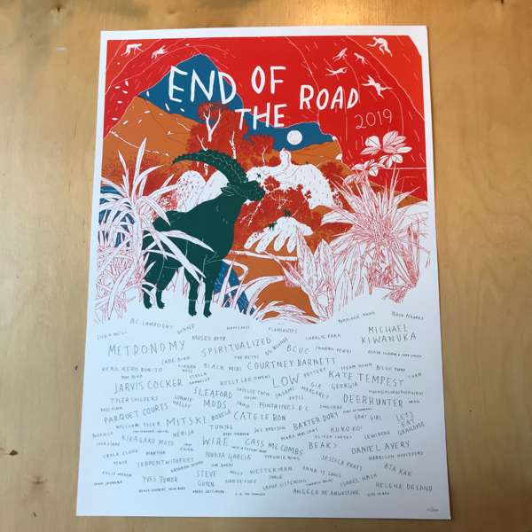 2019 Screenprinted Poster - End of the Road Festival