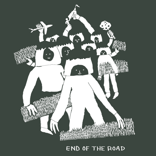 """2021 """"Crowd"""" T-Shirt - Stonewash Green - End of the Road Festival"""