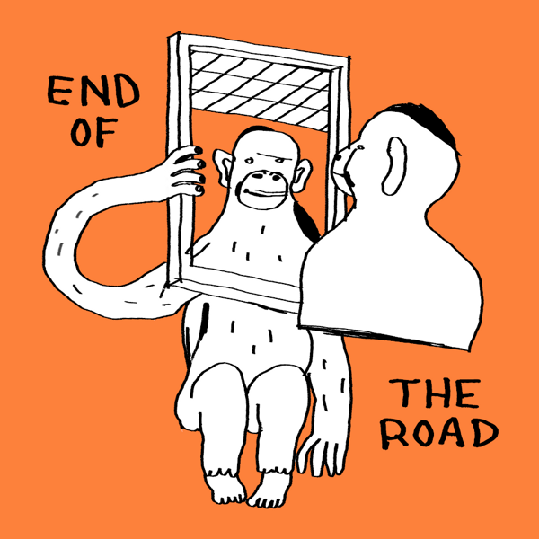 """2021 """"Mirror"""" T-Shirt - Orange - End of the Road Festival"""