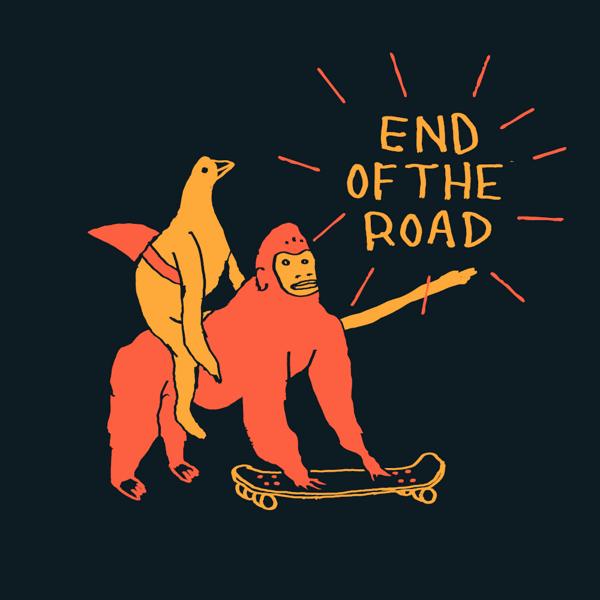 "2021 ""Skateboard"" T-Shirt - Navy - End of the Road Festival"