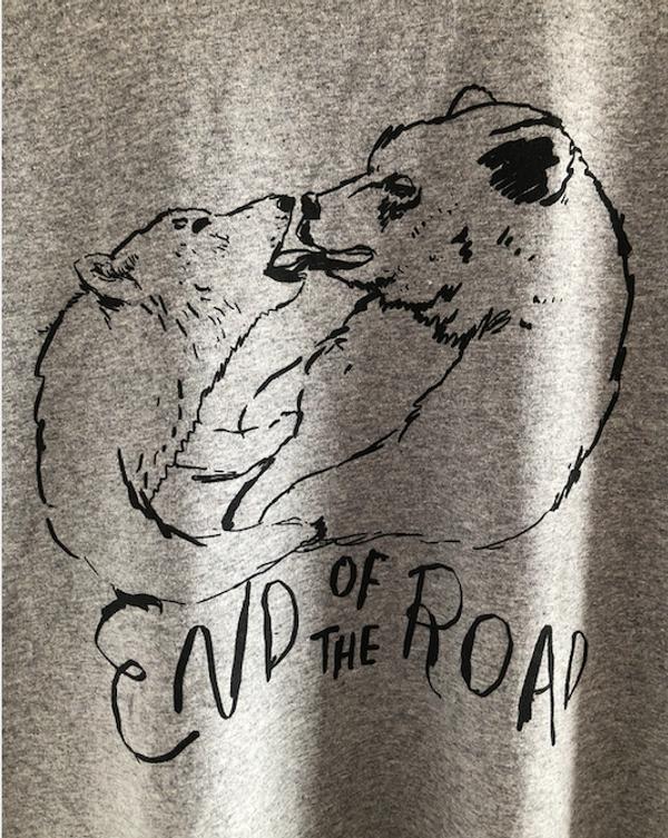 Bear Kiss T-Shirt - Grey (Ltd Edition) - End of the Road Festival