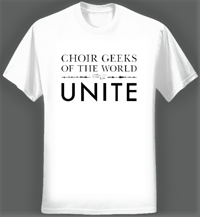 Choir Geeks of the World Unite T-shirt (Men/White) - Eric Whitacre