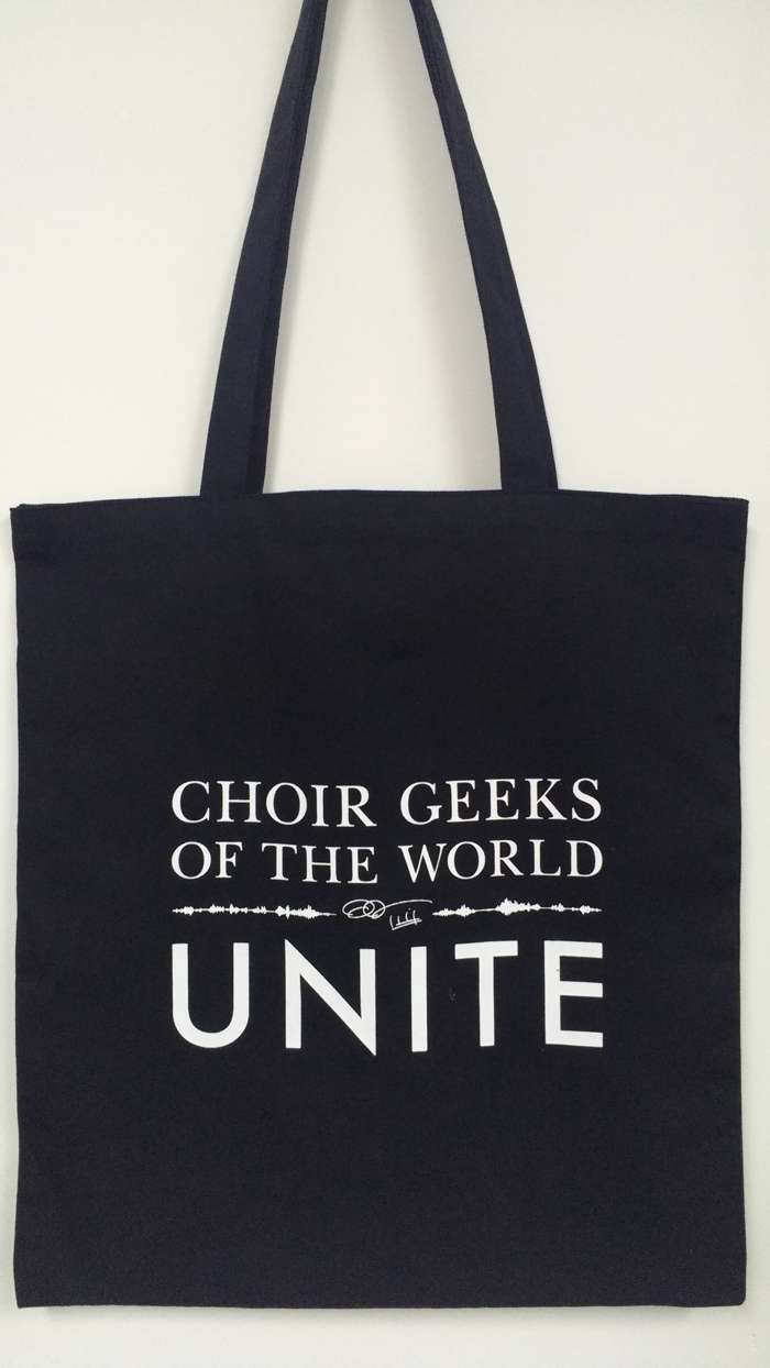 Choir Geeks of the World Unite Tote Bag - Eric Whitacre