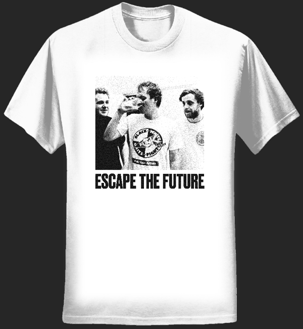 Escape The Future White Photo Tee - Escape the Future