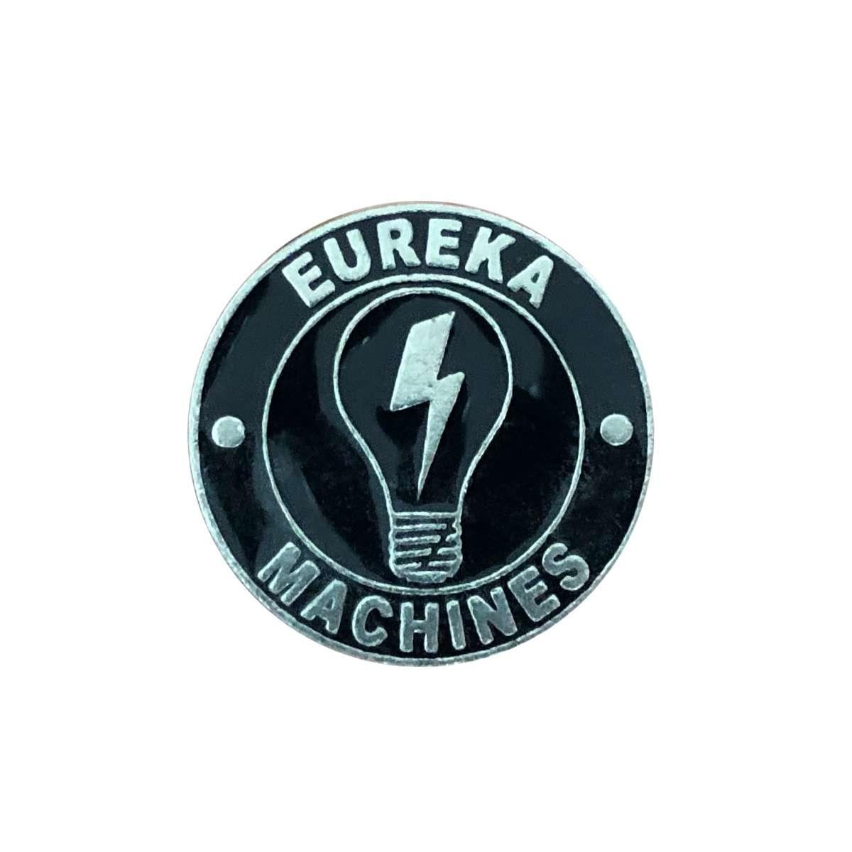 Bulb and Logo Enamel Badges - Eureka Machines