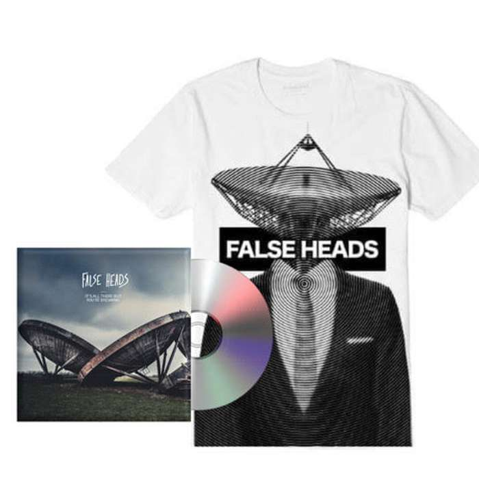 Bundle: CD & Satellite Tee - White - False Heads