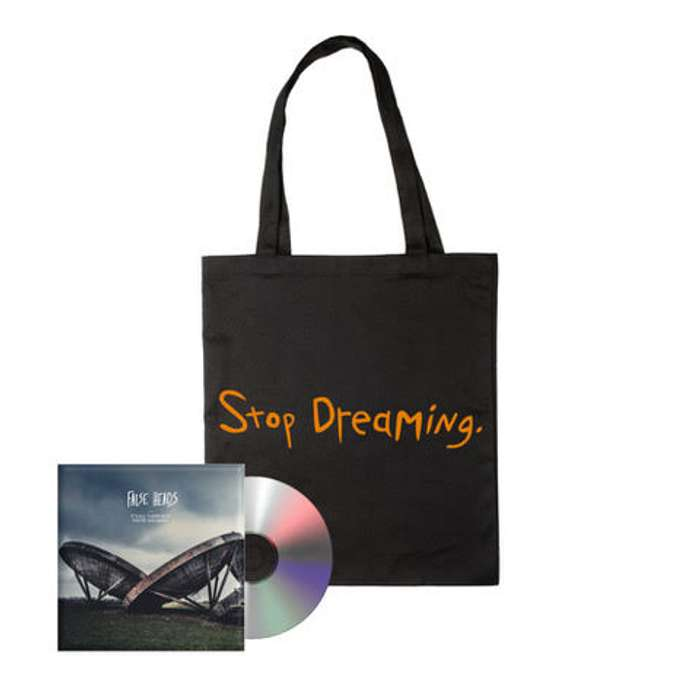 Bundle: CD & Stop Dreaming Tote Bag - False Heads