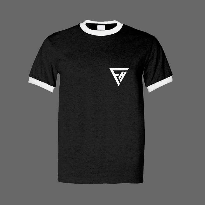 FH Crest Tee B/W - False Heads