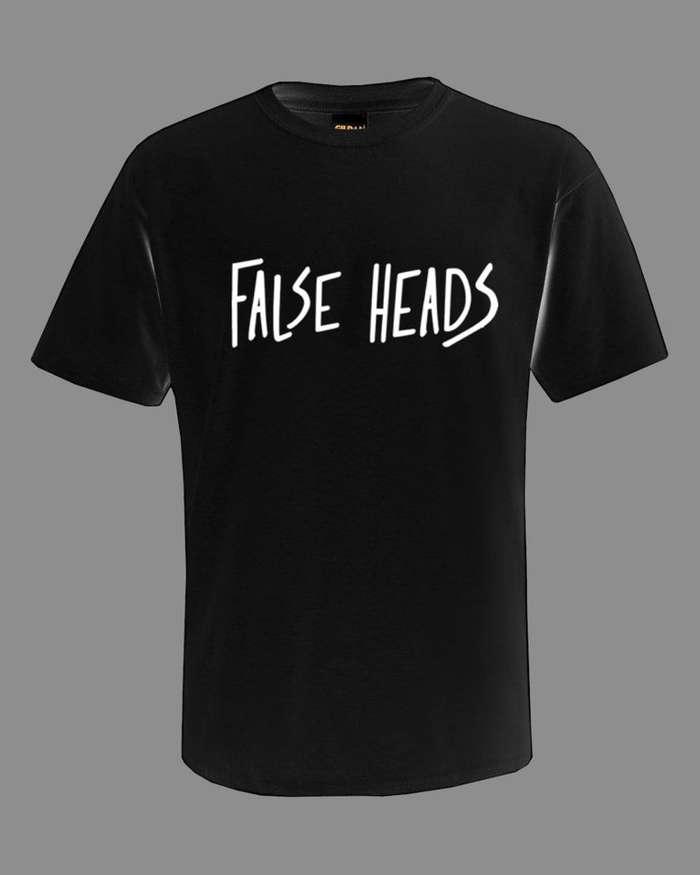 FH Written Tee B/W - False Heads
