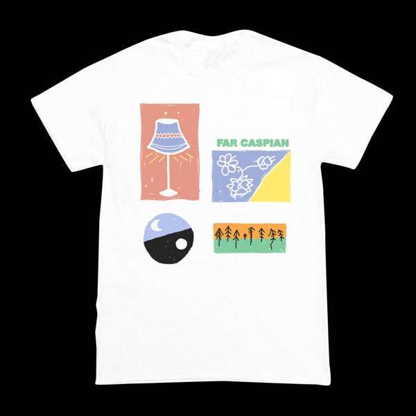 Far Caspian Summer T-Shirt on White - Far Caspian