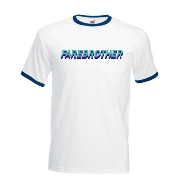 Farebrother Ringer Tee - Blue - Farebrother