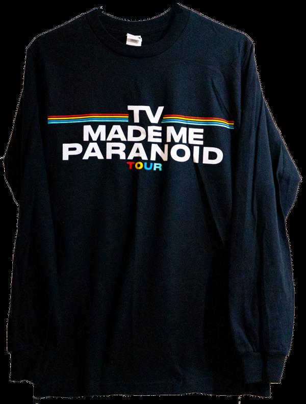 BLACK - TV MADE ME PARANOID TOUR - LONG SLEEVE - Faux Pas