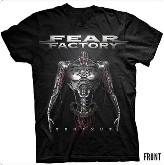 Genexus Tour 2015 (Black Tee) - Fear Factory