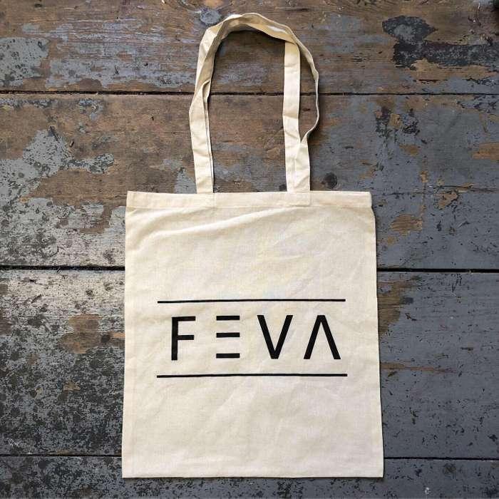 FEVA Logo Tote Bag Natural - FEVA