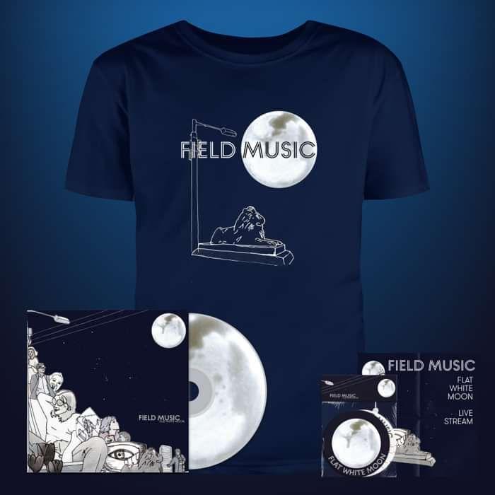 Flat White Moon - CD + Coasters + T Shirt + Live Stream Ticket - Field Music US
