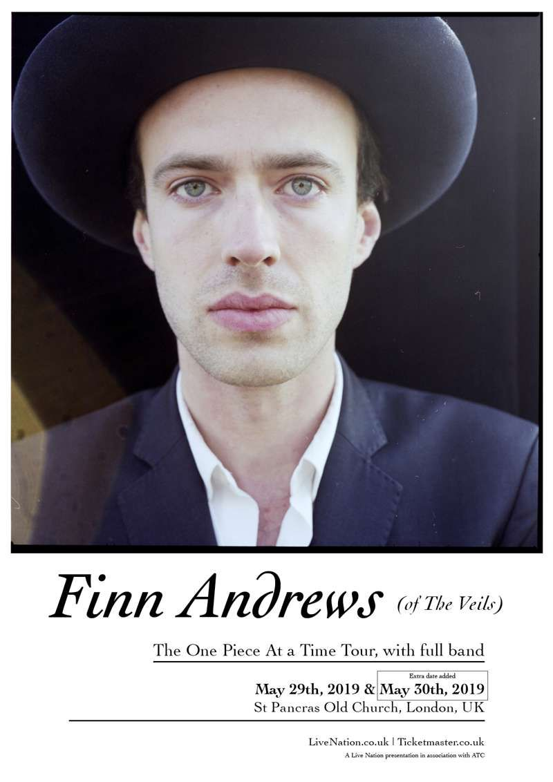 Finn Andrews at St Pancras Old Church, London on 30 May 2019