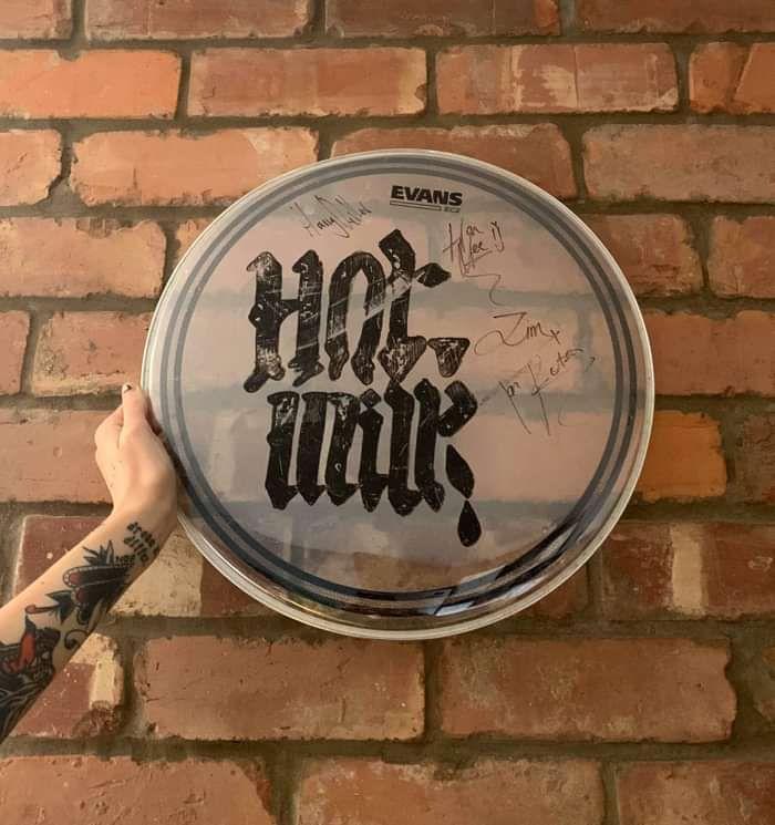 Hot Milk - Signed Drum Skin - Five4Five Fest