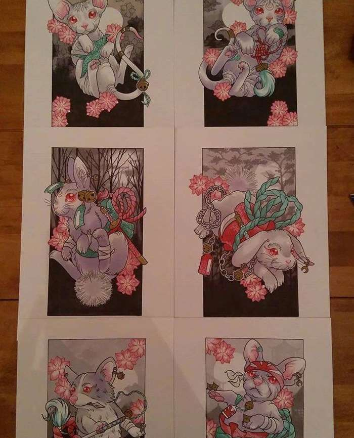Tattoos By Raychel - Set of 6 A4 Prints - Five4Five Fest