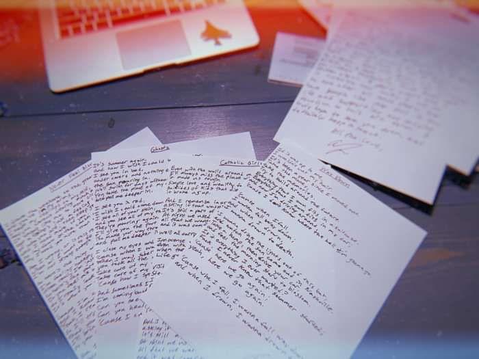 The Dangerous Summer - Handwritten Lyric Sheets - Five4Five Fest