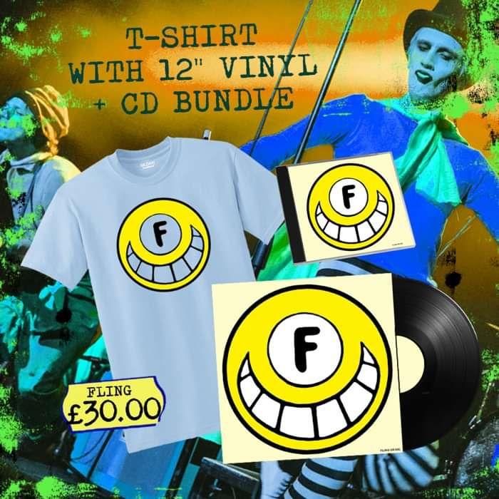 FLING Mega Bundle! Signed CD, Vinyl + Exclusive T-Shirt! - FLING
