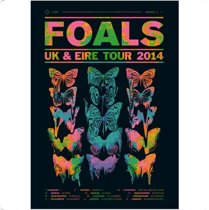 UK & Eire Tour Poster 2014 - Foals