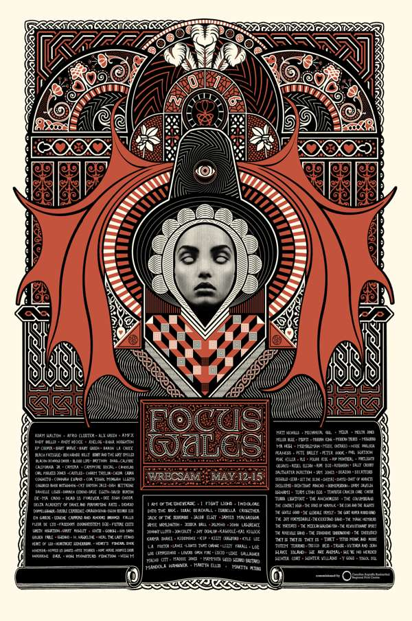 2016 Limited Edition Screen Printed Artwork - FOCUS Wales