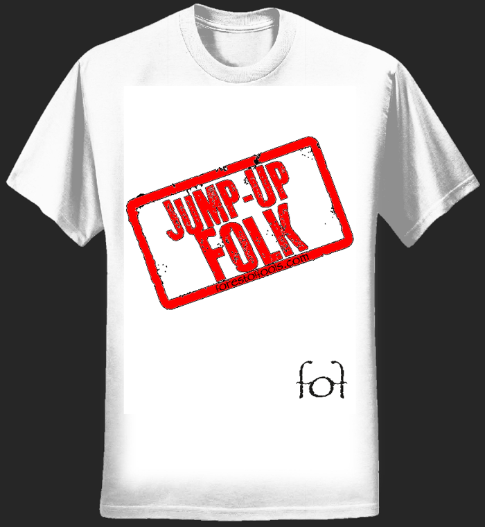 Mens Jump-Up Folk T-Shirt - forest of fools