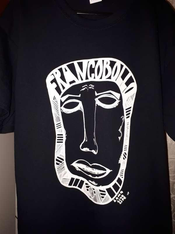 FRANCOBOLLO BLACK 'LONG LIVE LIFE' TEE - Francobollo