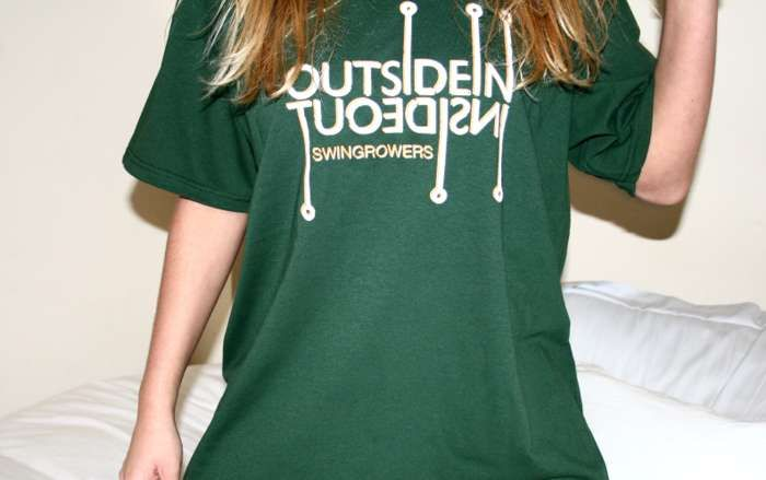 Swingrowers OUTSIDEIN T-Shirt Green (Female) - Freshly Squeezed