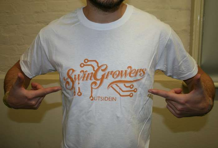 Swingrowers OUTSIDEIN T-Shirt White (Male) - Freshly Squeezed
