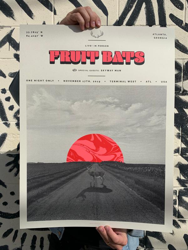 Poster for Atlanta, GA (Nov. 17, 2019) - Fruit Bats