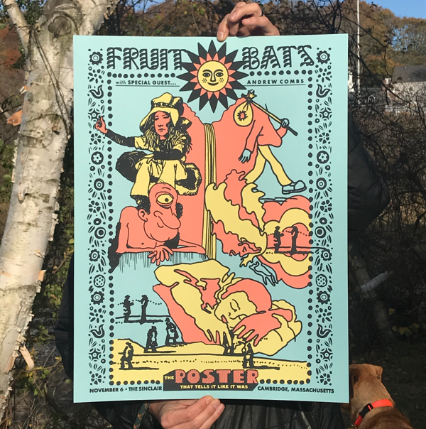 Poster for Cambridge, MA (Nov. 6, 2019) - Fruit Bats