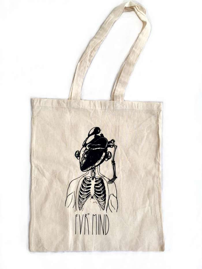 FVRheart NATURE WHITE Tote Bag - FVRmind