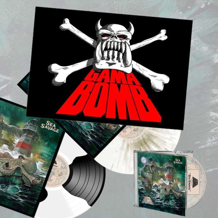 Gama Bomb - 'Sea Savage' Album + Textile Poster Flag Bundle - Gama Bomb