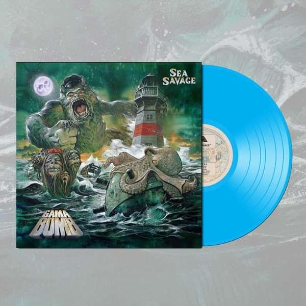 Gama Bomb - 'Sea Savage' Sea Blue LP - Gama Bomb