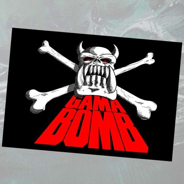 Gama Bomb - 'Snowy Crossbones' Textile Poster Flag - Gama Bomb