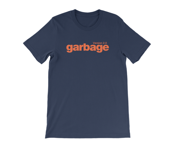 Version 2.0 T-Shirt - Navy - Garbage