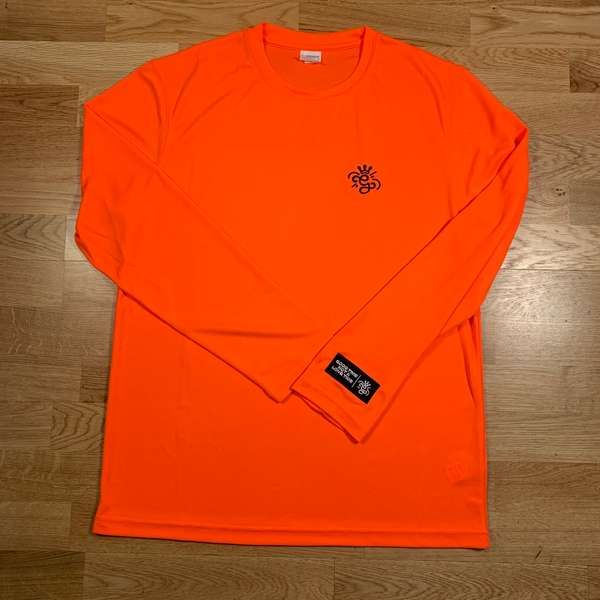 'G' Long Sleeve Neon Orange T-Shirt - GARDNA