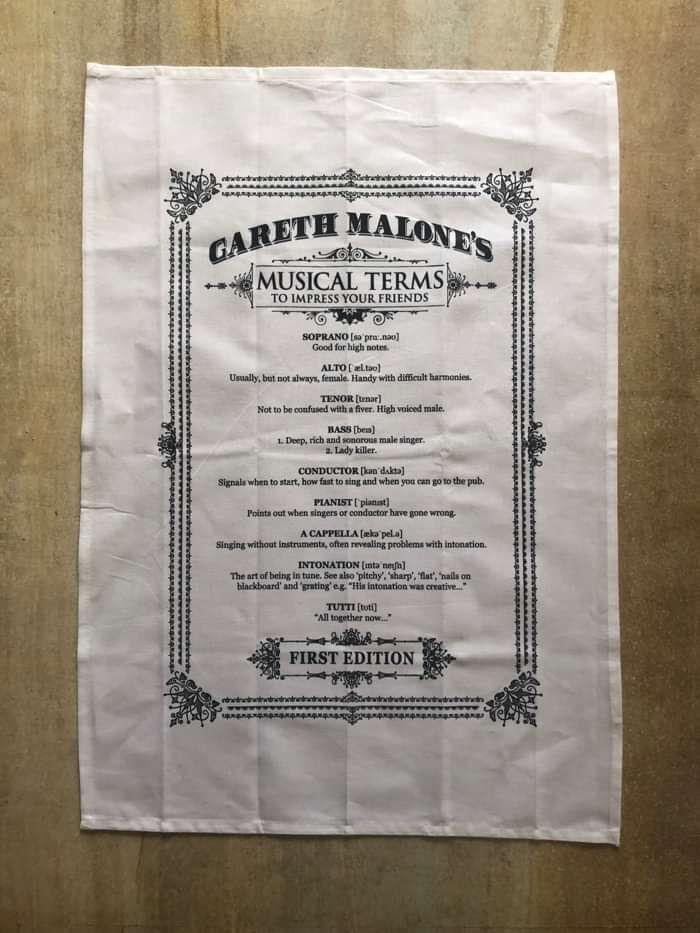 Musical Terms - Tea Towel - Gareth Malone