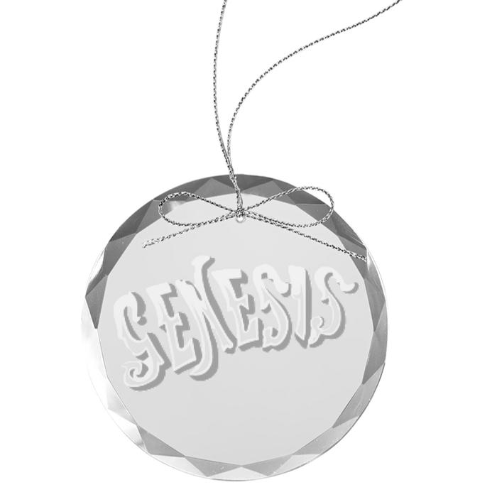 Circa 70s Logo Round Laser-Etched Glass Ornament - Genesis