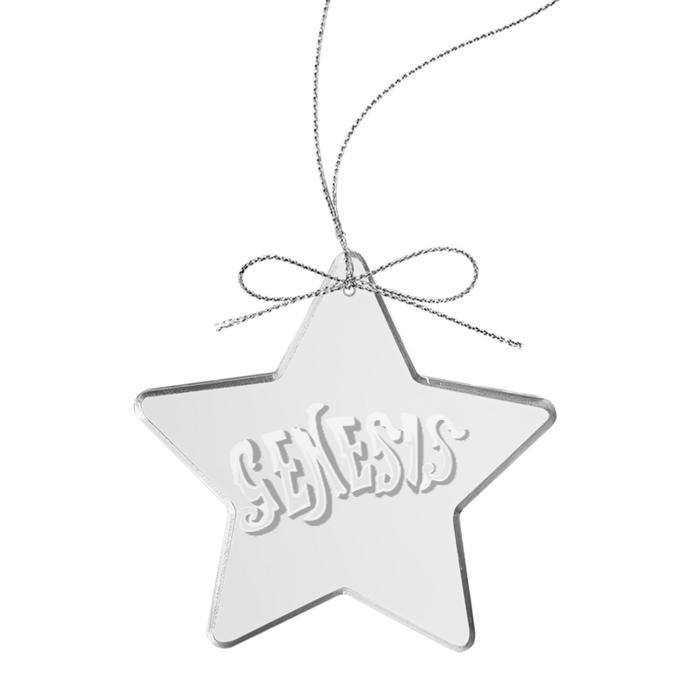 Circa 70s Logo Star Laser-Etched Glass Ornament - Genesis