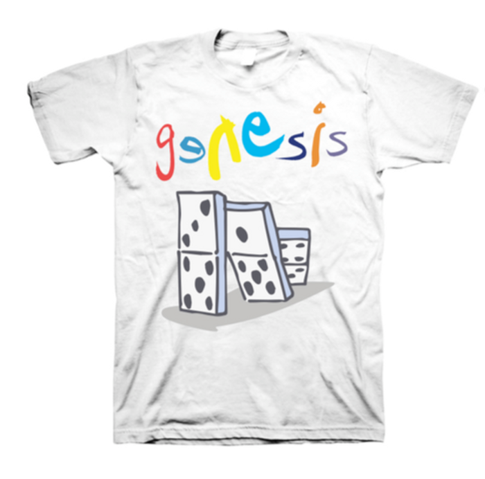 Genesis Domino Setlist White T-Shirt - Genesis