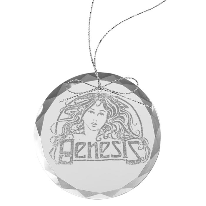 Goddess Round Laser-Etched Glass Ornament - Genesis