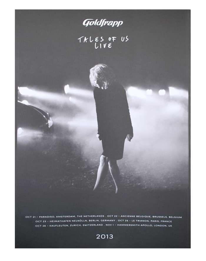 Tales Of Us Tour 2013 Poster - Goldfrapp