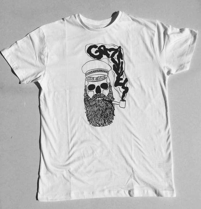 Hello Sailor T Shirt (White/Black) - GRAVVES