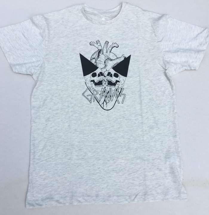 Skull Party T Shirt (Grey/Black) - GRAVVES