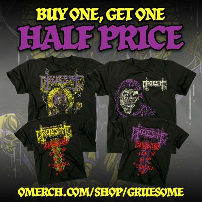 Gruesome - Buy 1 get 2nd Half Price T-Shirts - Gruesome
