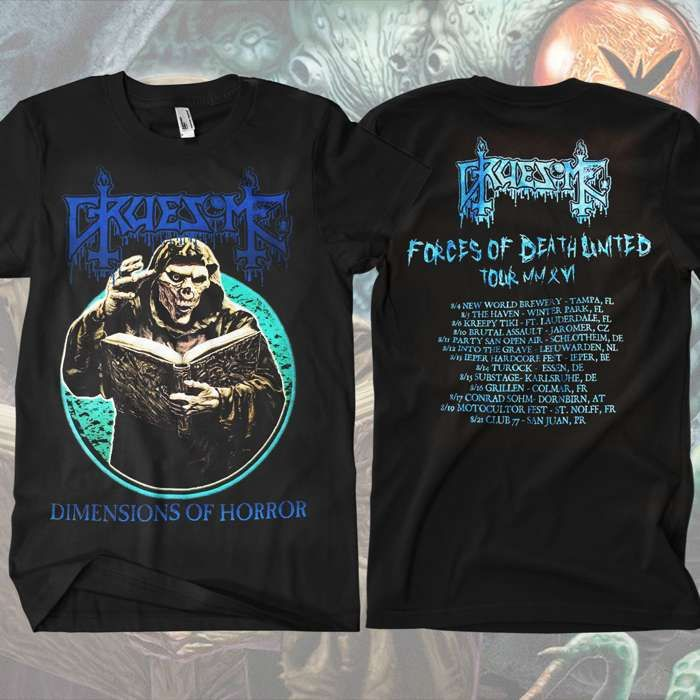 Gruesome - Forces of Death United Tour T-Shirt - Gruesome