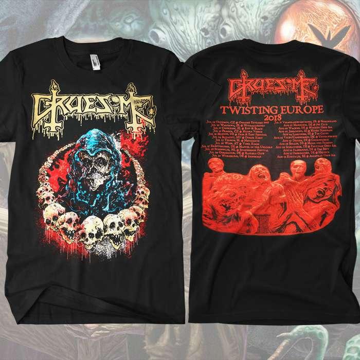 Gruesome - Skull Tour T-Shirt - Gruesome