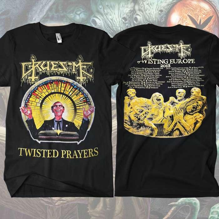Gruesome - Twisted Prayers Album Tour T-Shirt - Gruesome